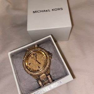 Michael Kors Camille crystal watch